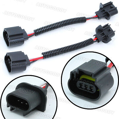 Socket Wiring (H13 / 9008 Wiring Harness Socket Connector Plug Extension For Headlight Fog HID )