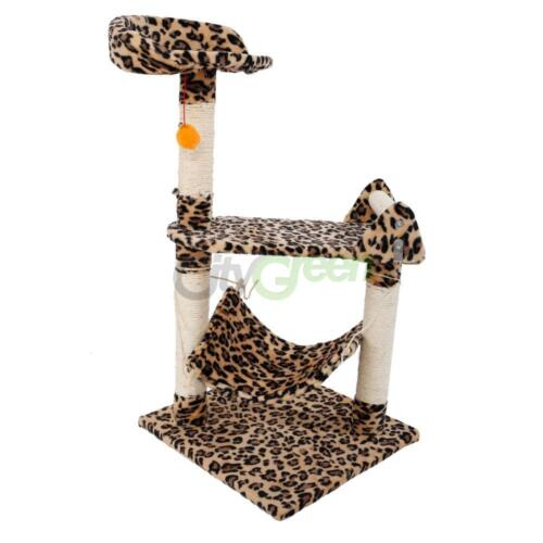 """Leopard Print Cat Tree Condo Scratching Post Pet House Toy 20""""-72"""""""