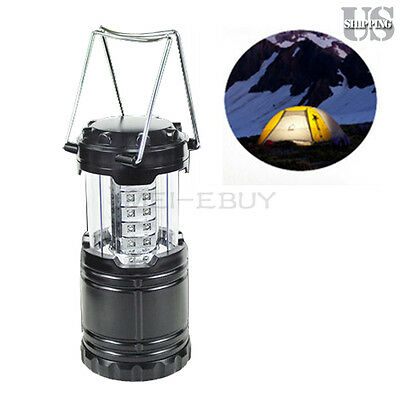 Ultra Bright Portable 30 LED Collapsible Camping Lantern Night Light Tent Lamp