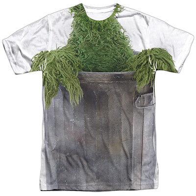 SESAME STREET OSCAR THE GROUCH COSTUME Front Print Adult Men's Tee Shirt SM-3XL](Adult Oscar The Grouch Costume)