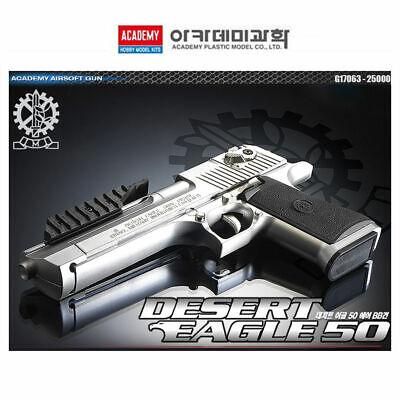 Academy Desert Eagle 50 SILVER Hand Grips 20mm /ABS Airsoft Pistol BB Gun 6mm comprar usado  Enviando para Brazil