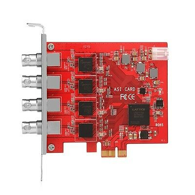 TBS690A 4 Input DVB-ASI Capture Card ASI to IP Conversion For Broadcast TV