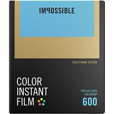 Impossible PRD4526 Color Glossy Instant Film with Gold Frames for Polaroid 600