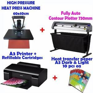 Fully Auto Contour Plotter 730cm + HEAT PRESS 40x60cm+ A3 Printer Seventeen Mile Rocks Brisbane South West Preview