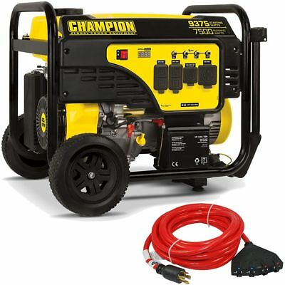 Champion 100538 - 7500 Watt Electric Start Portable Generator W Convenience ...