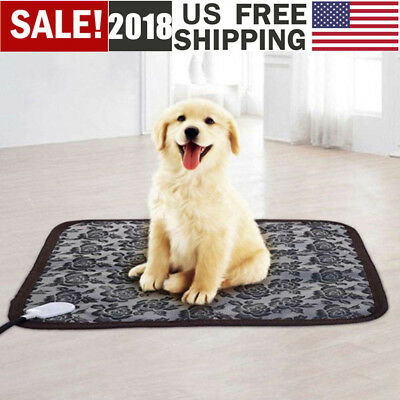 US Waterproof Pet Heated Warmer Bed Pad Puppy Dog Cat Bed Electric Heater Mat