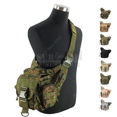 Military Tactical Molle Camo Durable Saddle Hunting Camping Camera Shoulder Bag