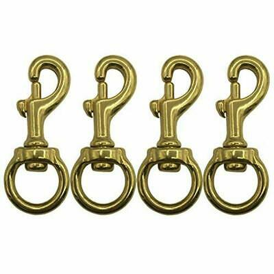 4 PCS Solid Brass Flagpole Snap Swivel Clips Bronze Pole Hooks Hardware With USA