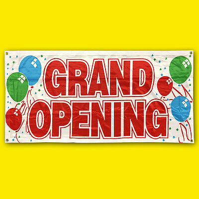 Grand Opening Banner Sign Vinyl Alternative Store Sale Retail 2x4 Ft - Fabric Wb