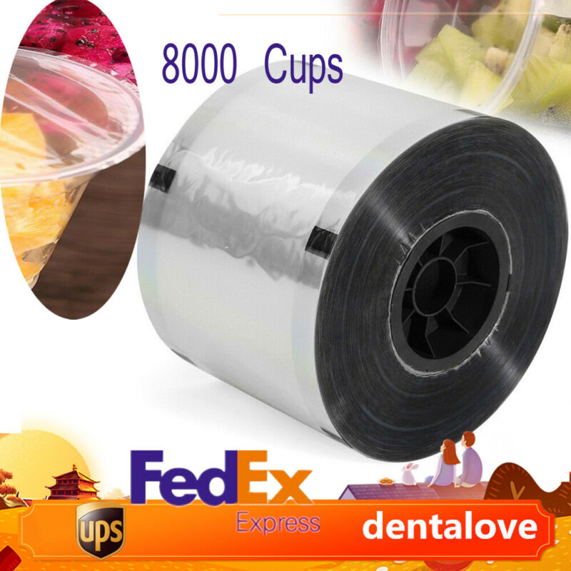 2 Rolls Cup Sealer Sealing Film 2* 4000 cups for Dia 90-105mm Cup Tasteless PET