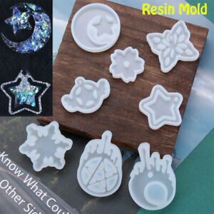 Crystal Star Moon Pendant UV Epoxy Silicone Mold Resin Mould Jewelry Making