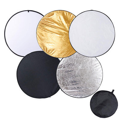 """43"""" 5 in 1 Collapsible Light Reflector Panel Diffuser w/ Bag Photo Video Studio"""