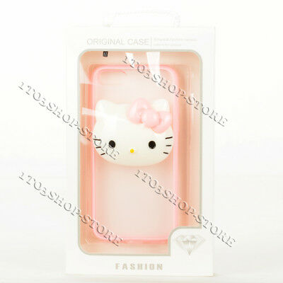 Hello Kitty Hard Snap Cover Case For iPhone 5s iPhone 5 iPhone SE Pink/Clear New