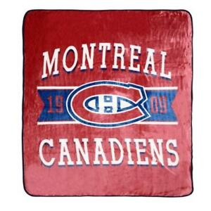 "NHL Luxury Velour Blanket - Montreal Canadiens Soft Cozy Throw 60"" x 80"""