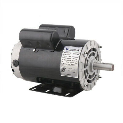 5hp 1phase 3450rpm 60hz Electric Air Compressor Duty Motor 56 Frame 78shaft Us
