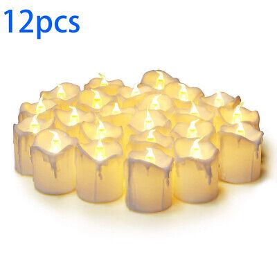 12pcs Flameless Candele LED Lanterna Tremolante Lampada Casa Accessori Decoraz