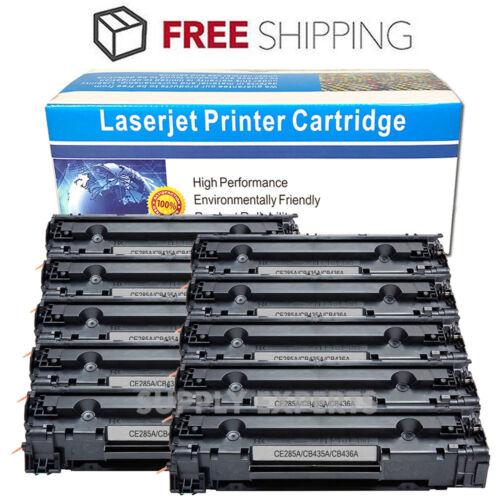10PK Black Toner Cartridge for HP CB436A