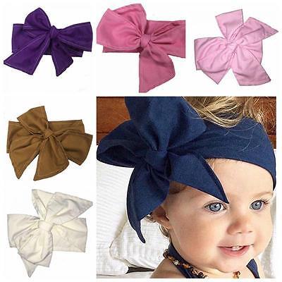 (Baby Infant Rabbit Ears Head Wrap Turban Big BowKnot Headband Hairband)