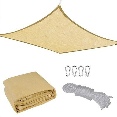 - 13'x10' Rectangle Sun Shade Sail Cover Outdoor Patio Canopy Shelter Desert Sand