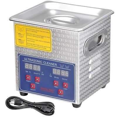 2l Industry Digital Ultrasonic Cleaner Heater Timer Stainless Jewel Clean Tank