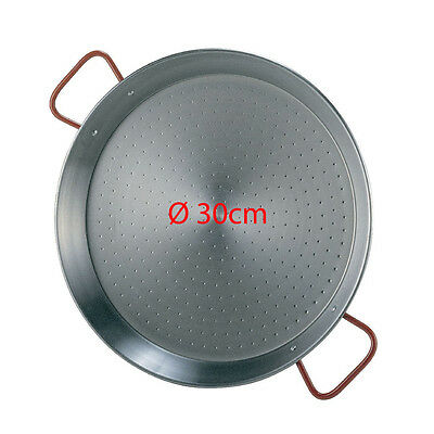 30cm Polished Steel Paella Pan - Paellera Valenciana NEXT DAY DELIVERY UK STOCK comprar usado  Enviando para Brazil