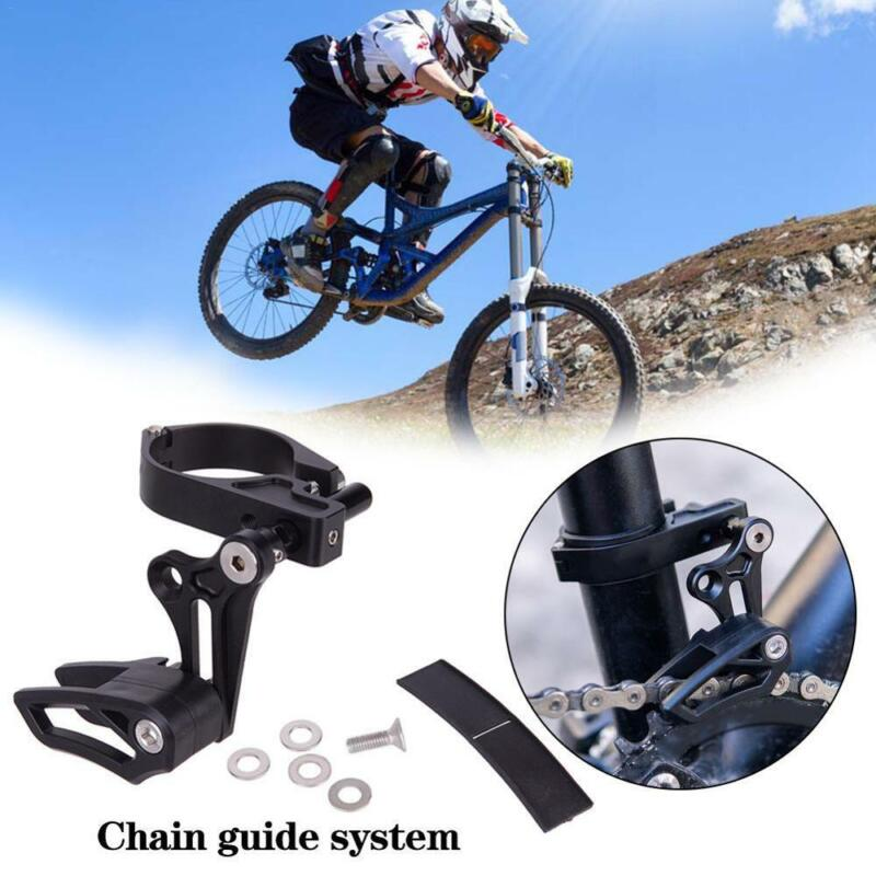 MTB Bicycle Chain Guide Drop Catcher Clamp Mount Adjustable For Mountain Bike