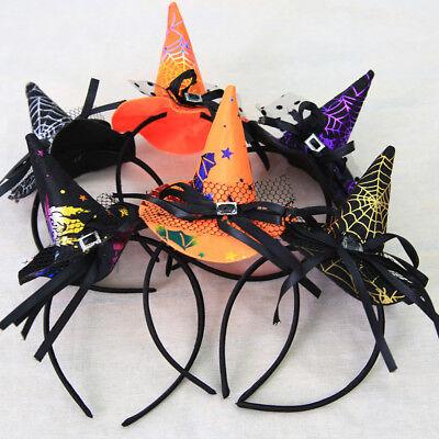 Mini Witch Hat On Headband  Halloween Fancy Dress Props Kid Cosplay Accessories