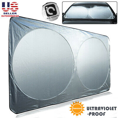 X-Large Windshield Sun Shade for Full Size Car Truck Van Foldable Window (Windshield Visors For Cars)