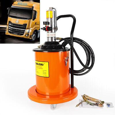 5 Gallon Air Operated High Pressure Grease Pump Pneumatic Universal Gun Hose
