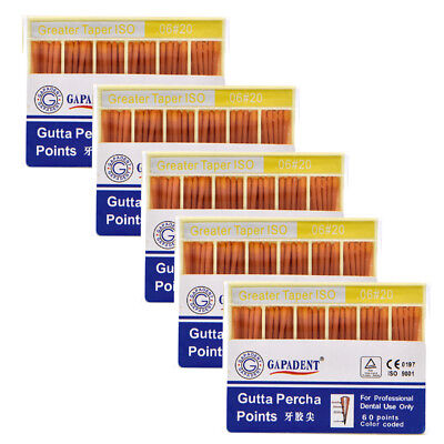 5boxes Dental Gutta Percha Point 0.06 20 Zinc Oxide Barium Sulfate