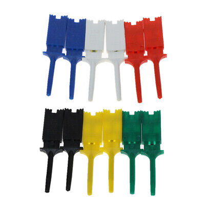 12x Smd Ic Test Hook Clip Grabbers Test Probe Logic Analyzer Clamp 6 Color