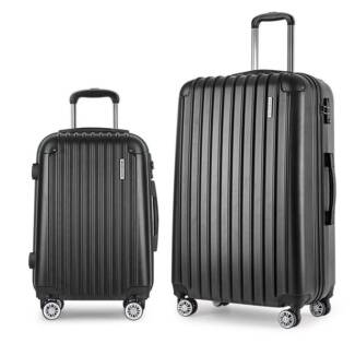 Set of 2 Hard Shell Travel Luggage with TSA Lock - Black