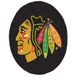 NHL - Chicago Blackhawks Puck Mat 27 Inch Diameter Non Skid Rug Mat