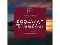 £99+VAT TENANT FIND ONLY | JUNE OFFER WITH PRINCETONS