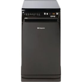 BRAND NEW HOTPOINT BLACK SLIMLINE DISHWASER W/ A++ RATING REF: 31418