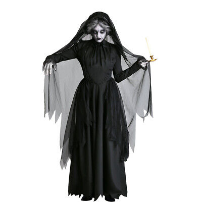 Women Vampire Witch Fancy Dress Sorceress Outfit Costume Halloween Cosplay - Scary Witch Kostüm