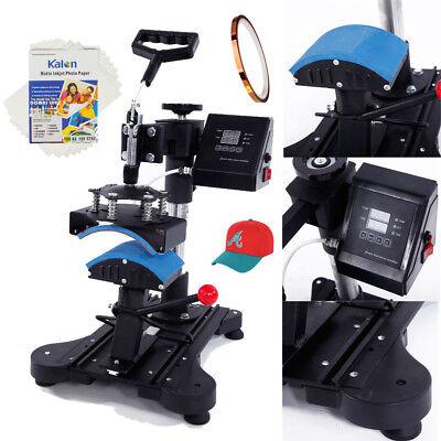 6 X 3 Cap Hat Heat Press Machine A4 Transfer Paper Fixed Glue Diy 150w 110v