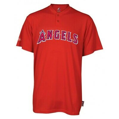 Majestic Two-Button Los Angeles Angels Replica Youth Cool Base Jersey YS (R30) Angels Youth Replica Jersey