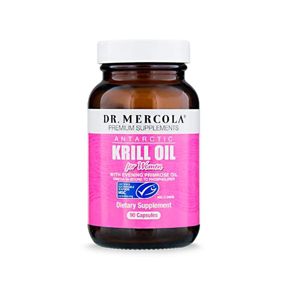 Dr. Mercola Antarctic Krill Oil for Women - 90 Capsules - Wi