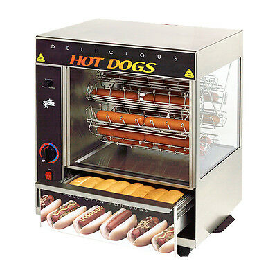 Star 175cba 32 Hot Dog Capacity Broil-o-dog Hot Dog Broiler Rotisserie