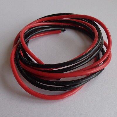 Silikon - Kabel AWG14 - in Rot und Schwarz - je 1 Meter = 2m gesamt.