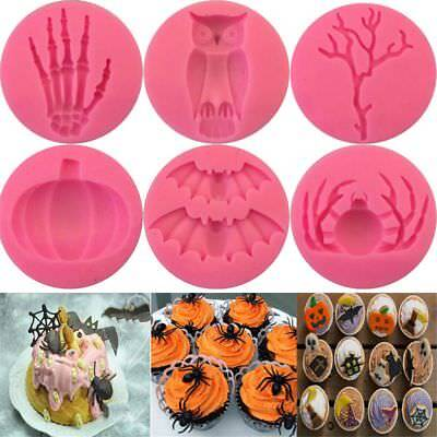 Chocolate Baking Spiders Silicone Fondant Mold Skull Hand Halloween - Baking Halloween