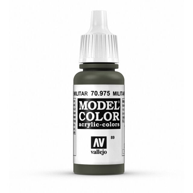 Vallejo Model Color: Military Green - VAL70975 Acrylic Paint 17ml Bottle 089