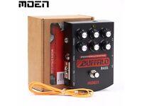 sansamp clone-overdrive MOEN BS-BA Buffalo BASS Guitar DI /mini amp Headphones Out + Parametric EQ