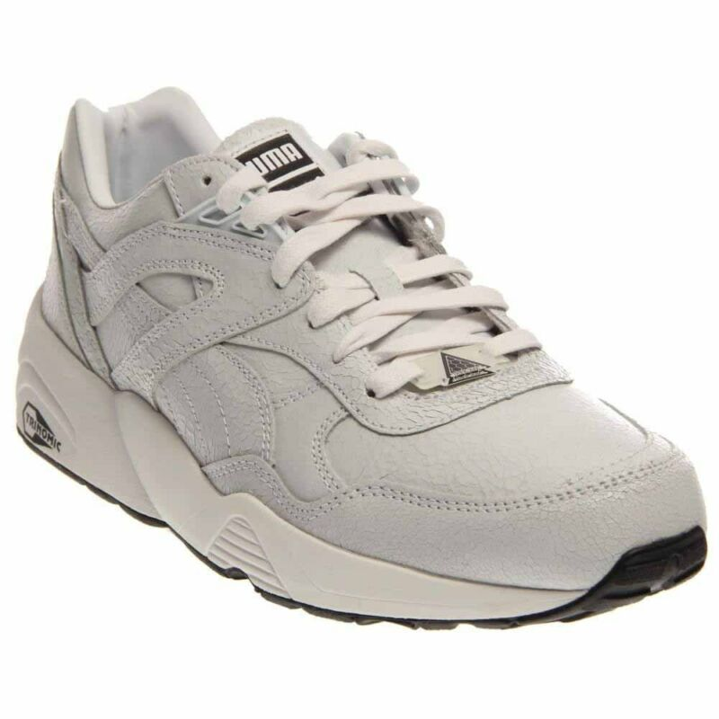 competitive price 6cd17 1cc85 Puma Trinomic R698 Crackle Running Shoes - White - Mens
