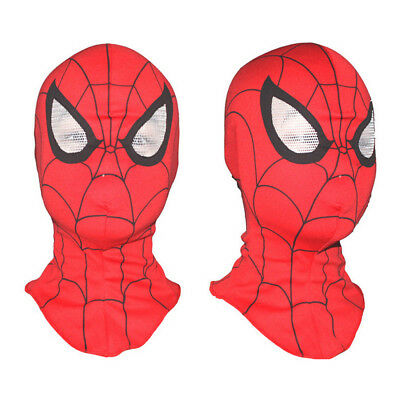 SpiderMan Deluxe Adult Men's Mask Disguise Cosplay Hood Costume Halloween Toy