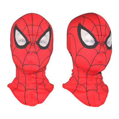 SpiderMan Deluxe Adult Men's Mask Disguise Cosplay Hood Costume Halloween Toy - Halloween Masks For Men