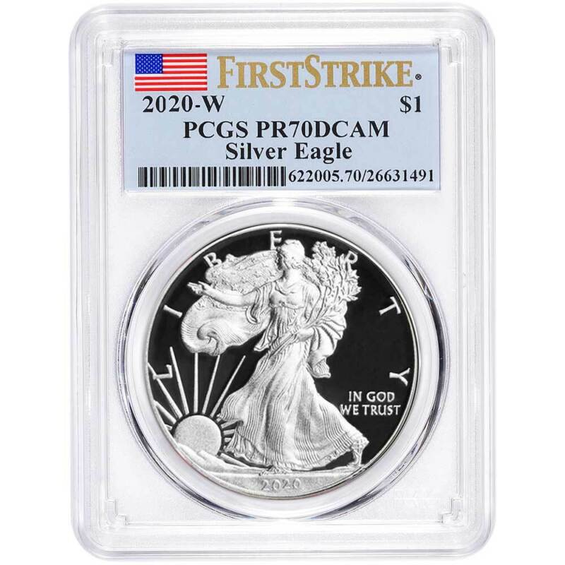 Presale - 2020-W Proof $1 American Silver Eagle PCGS PR70DCAM First Strike Flag