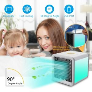 Portable Mini Air Cooler Ice Water Conditioner Evaporator USB Rechargeable Fan