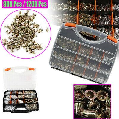 900-1200pcs Rivet Kit Rivnut Thread Setting Tool Nut Setter Nutsert Mandrel Kit